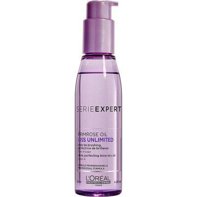 Изглаждащо олио за гладка коса и блясък с Про-Кератин и подхранващи масла LOreal Professionnel Liss Unlimited 125 мл