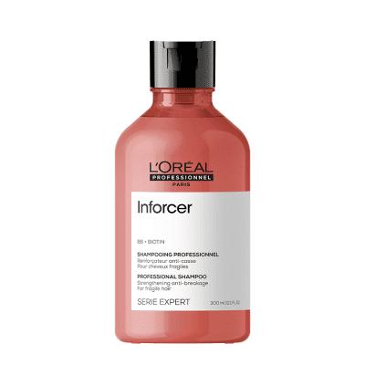Уплътняващ шампоан за слаба накъсваща се коса с биотин LOreal Professionnel Inforcer Shampoo 300 мл