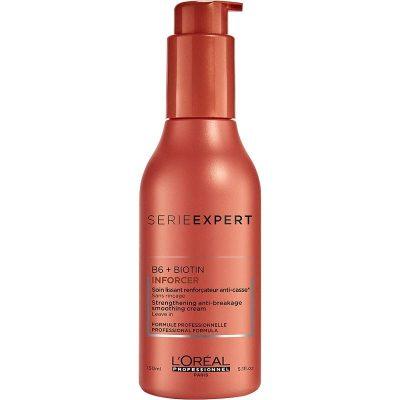 Подсилващ изглаждащ крем за слаба накъсваща се коса с биотин LOreal Professionnel Inforcer Cream 150 мл