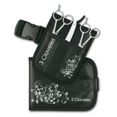 Фризьорски комплект ножици и бръснач 3 Claveles Hairdressing Scissors SKOOL SET