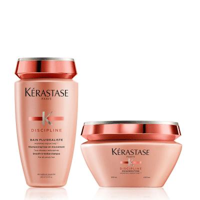 Комплект за изглаждане и укрепване на косата - шампоан и маска Kerastase Disciplinе