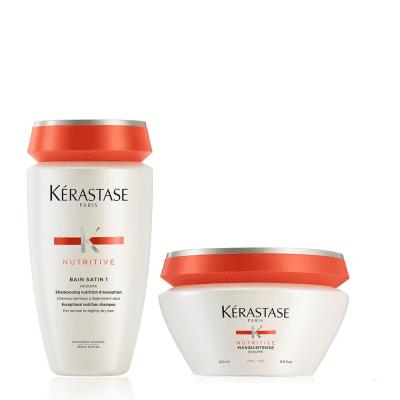 Комплект за хидратация и подхранване на суха коса - шампоан и маска Kerastase Nutritive