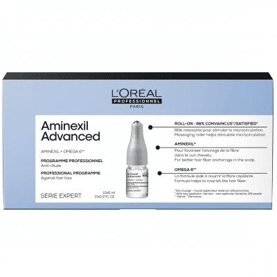 Интензивна програма за изтъняваща коса ампули LOreal Professionnel Aminexil Advanced 10х6
