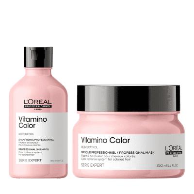 Комплект шампоан и маска за боядисана коса LOreal Professionnel Vitamino Color