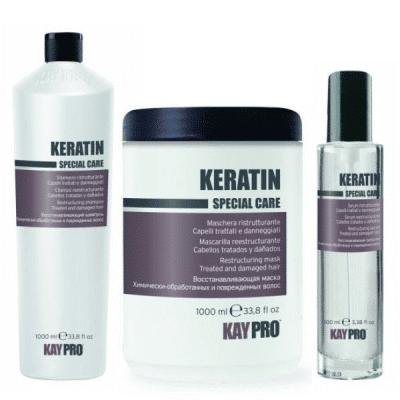 Промоционален комплект за възстановяване на увредена и третирана коса с Кератин KAY PRO KERATIN
