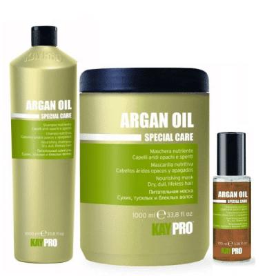 Промоционален комплект за интензивна хидратация и подхранване на сухи и безжизнени коси KAY PRO ARGAN