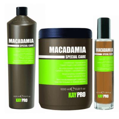 Промоционален комплект за късаща се тънка и чувствителна коса с масло от Макадамия KAY PRO MACADAMIA