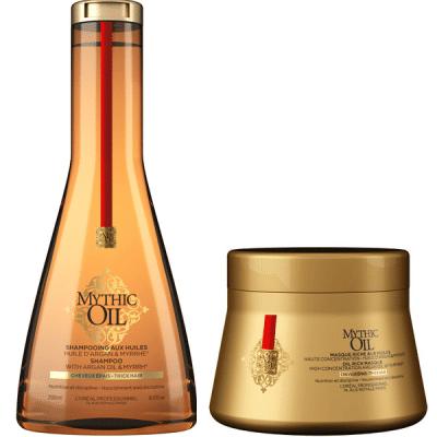Комплект подхранващи шампоан и маска за плътна коса L'Oréal Professionnel Mythic Oil