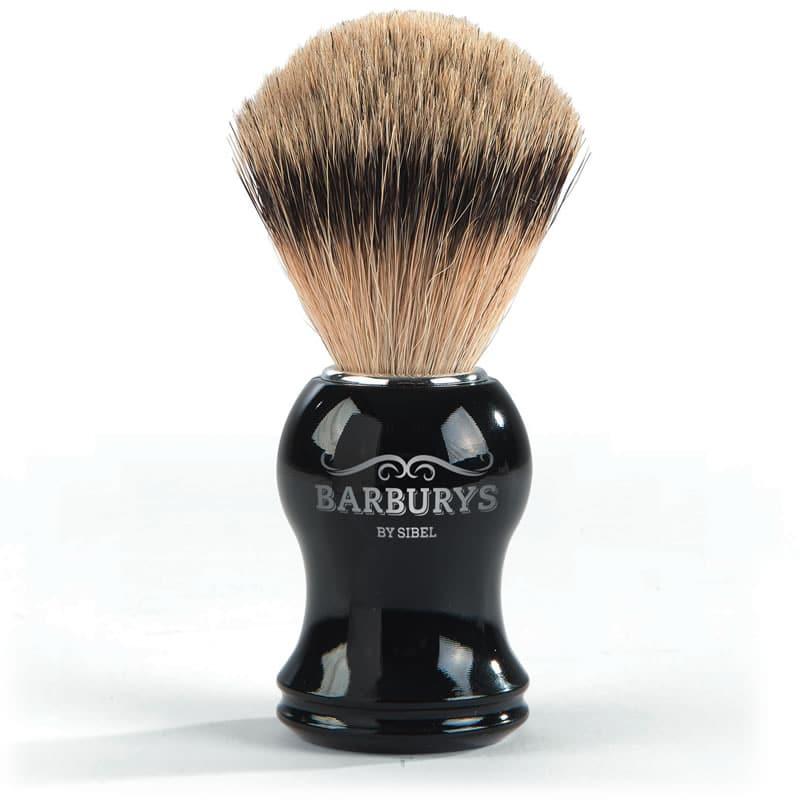 Четка за бръснене с естествен косъм от язовец BARBURYS Silhouette
