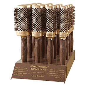 NanoThermic + Ion TM - Професионални термоустойчиви кръгли четки за коса