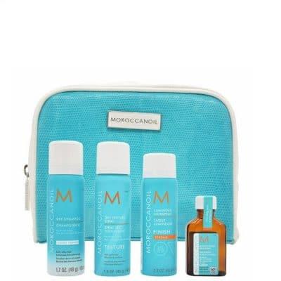 Комплект за пътуване със стилизиращи продукти MOROCCANOIL Refresh & Go Travel kit