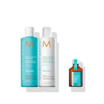 Комплект за обем шампоан и балсам Moroccanoil Extra Volume и арганово масло за тънки и фини коси MoroccanoilTreatment Light