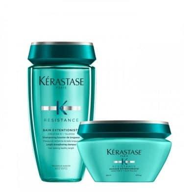 Комплект укрепващи шампоан и маска за дълга коса Kerastase Resistance Extentioniste