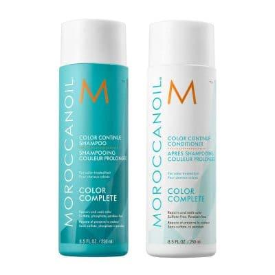 Комплект шампоан и балсам за боядисана коса с арганово масло Moroccanoil Color Continue