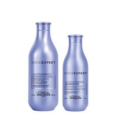 Комплект шампоан и балсам за неутрализиране на жълти отенъци на руса коса LOreal Professionnel Blondifier
