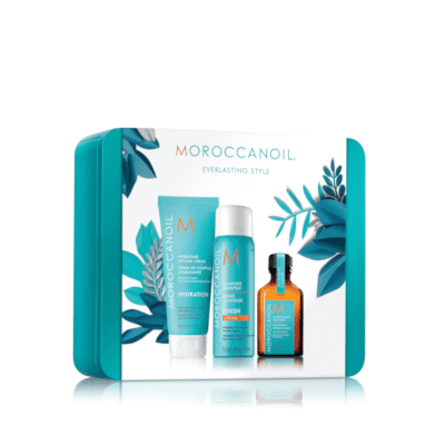 Комплект стилизиращи продукти Moroccanoil Everlasting Style Set в елегантна метална кутия