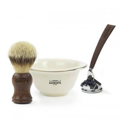 Комплект за бръснене BARBURYS Shaving Black Wenge в елегантна кутия