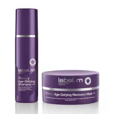 Комплект подмладяващи безсулфатни шампоан и маска Label.m Therapy Age-Defying