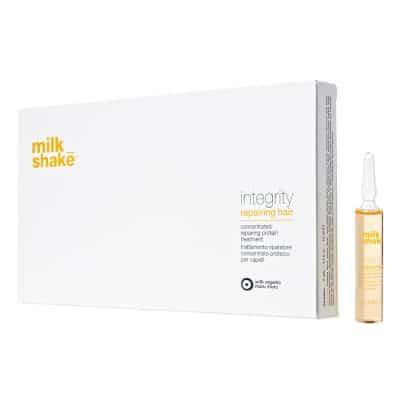 Ампули с млечни протеини за суха и изтощена коса Milk Shake Repairing Hair 8 x 12 мл