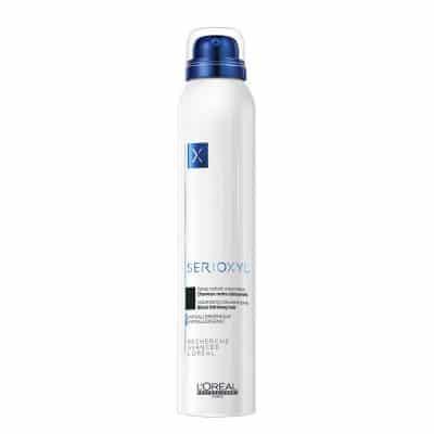 Оцветяващ спрей за плътност и обем за изтъняваща коса LOreal Professionnel Serioxyl Volumizing Black Thinning Hair 250 мл