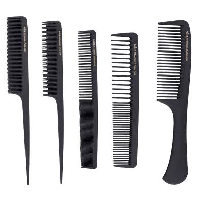 Комплект фризьорски гребени Антистатик 5 броя NIVA Antistatic Carbon