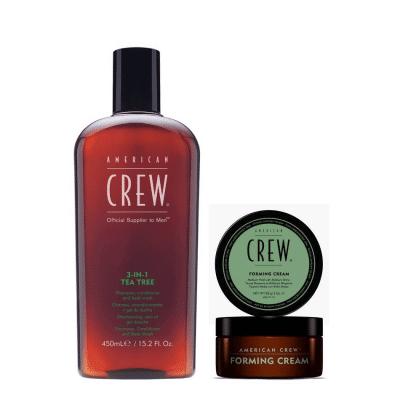 Комплект за мъже шампоан и стилизиращ крем American Crew Daily Shampoo § Forming Cream