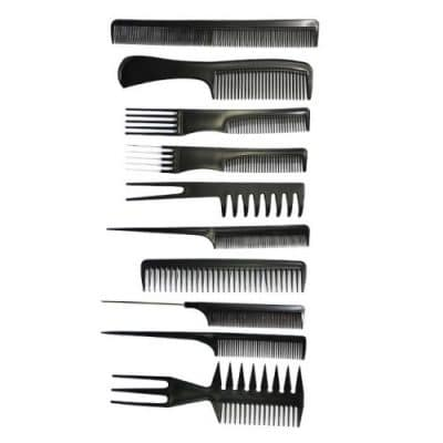 Комплект фризьорски гребени черни
