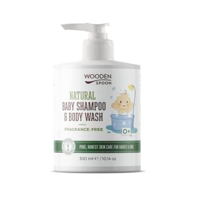Натурален бебешки шампоан за коса и тяло Wooden Spoon