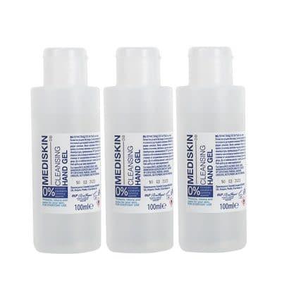 Почистващ гел за ръце със спирт Mediskin 3 х 100 мл