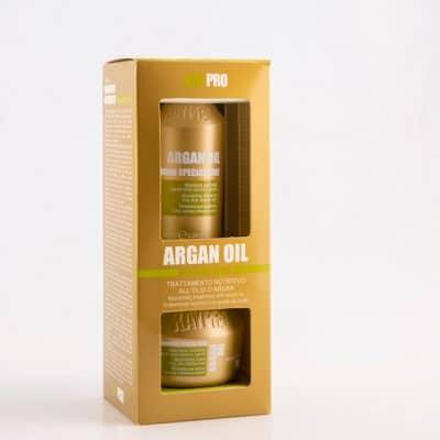 Комплект за интензивна хидратация и подхранване на сухи и безжизнени коси KAY PRO ARGAN Travel Set 100 + 100 мл