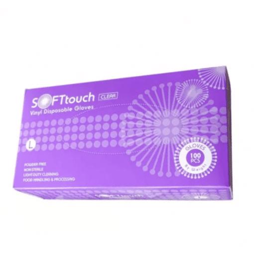 Ръкавици винил L размер SOFT Touch 100 бр