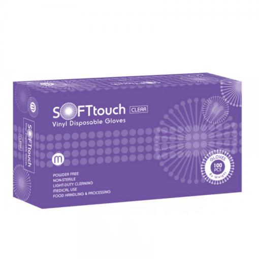 Ръкавици винил M размер SOFT Touch 100 бр